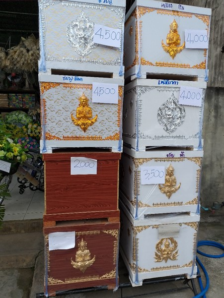 タイのお棺7500円くらいから1万5千円まで