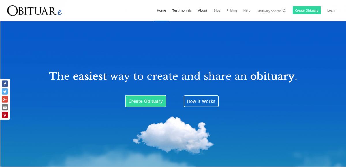 OBITUARe ウェブサイトトップ